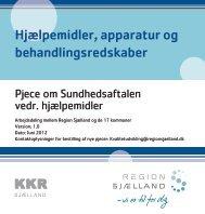 Pjece om Sundhedsaftalen vedr. hjælpemidler - Sundhed.dk