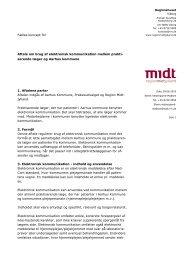 Aftale om brug af elektronisk kommunikation mellem ... - Sundhed.dk