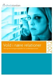 Vold i nære relationer - Sundhedsstyrelsen