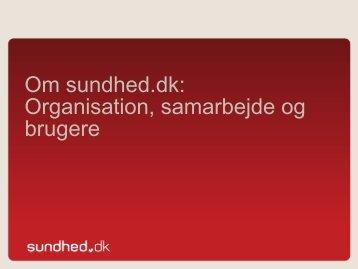Sundhed.dk organisation (pdf)