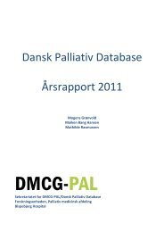 Dansk Palliativ Database Årsrapport 2011 - DMCG-PAL