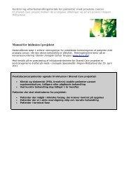 Manual for inklusion i projektet_endelig - Sundhed.dk