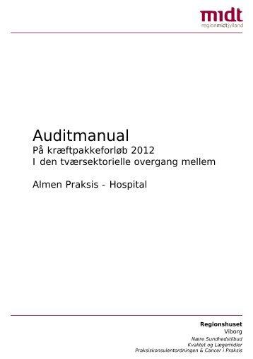 Klik her hvis du vil læse vores auditmanual - Sundhed.dk