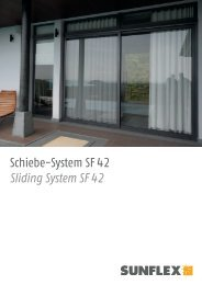 Schiebe-System SF 42 Sliding System SF 42 - Sunflex Aluminium ...