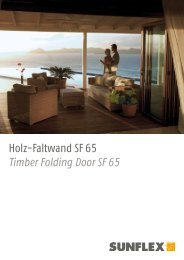 Holz-Faltwand SF 65 Timber Folding Door SF 65