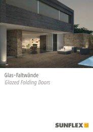 Glas-Faltwände - Sunflex Aluminium-Systeme GmbH