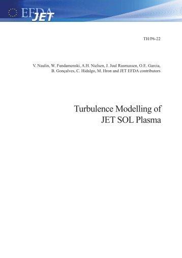 Turbulence Modelling of JET SOL Plasma - SUNIST