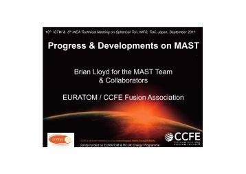 Progress & Developments on MAST - SUNIST