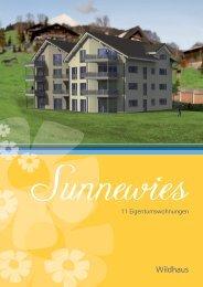 16 seitige Dokumentation - Sunnewies Wildhaus