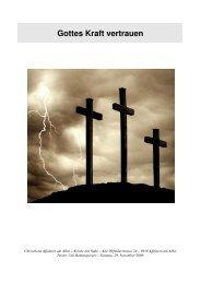 Gottes Kraft vertrauen - Chrischona Gemeinde Affoltern