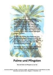Die Palme und Pfingsten - Chrischona Gemeinde Affoltern