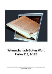 Sehnsucht nach Gottes Wort - Chrischona Gemeinde Affoltern