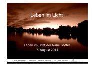 (Microsoft PowerPoint - Im Licht der N\344he Gottes 2011-08-07.ppt ...
