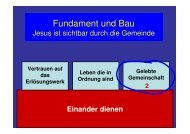 Dient einander als gute Verwalter der vielfältigen Gnade Gottes ...