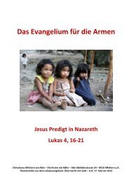 Das Evangelium für die Armen - Chrischona Gemeinde Affoltern