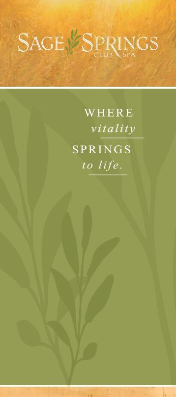 Where vitality springs to life. - Sunriver Resort