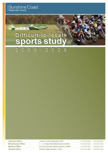 Difficult-to-Locate Sports Study - Sunshine Coast Council ...