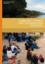 community events and celebrations strategy - Sunshine Coast Council