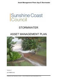 stormwater asset management plan - Sunshine Coast Council