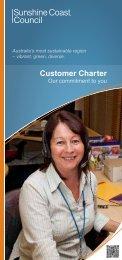 Customer Charter - Sunshine Coast Council