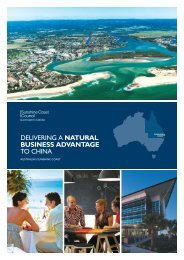 delivering a natural business advantage to china - Sunshine Coast ...