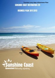 Tourism Levy App A Business Plan - Sunshine Coast Council