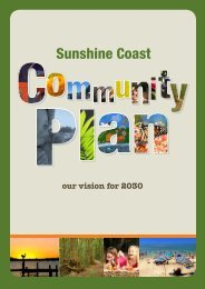 Sunshine Coast Council Community Plan 2011