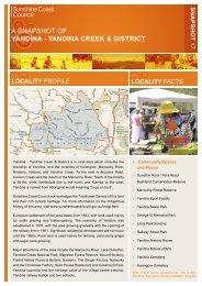 YanDIna CREEK & DIstRICt - Sunshine Coast Council