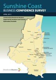 Sunshine Coast Business Confidence Survey April 2013 Report