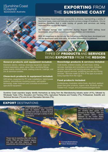 Export Survey Summary - Sunshine Coast Council