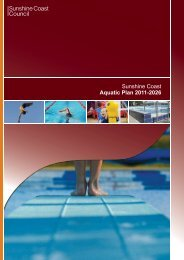 Sunshine Coast Aquatic Plan 2011-2026 - Sunshine Coast Council