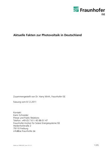 Aktuelle Fakten zur Photovoltaik in Deutschland - Sunside Carports