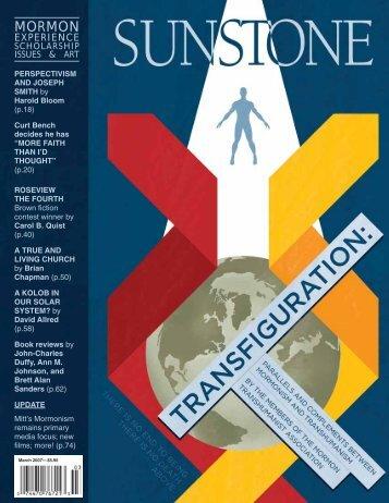 MORMON - Sunstone Magazine