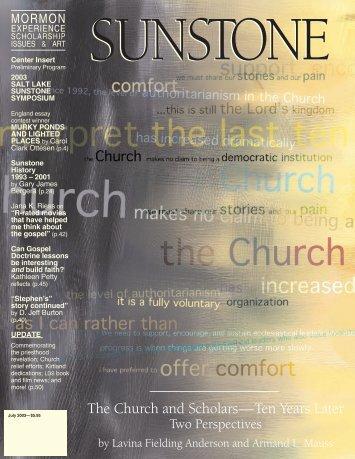 The Church and Scholars—Ten Years Later - Sunstone Magazine