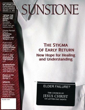 the stigma of early return the stigma of early return - Sunstone ...