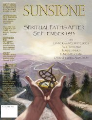 S¡iRituaL ¡athS aFteR Se¡teMBeR 199^ - Sunstone Magazine