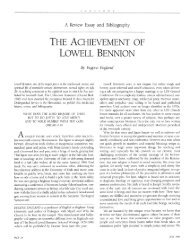 THE ACHIEVEMENT OF LOWELL BENNION - Eugene England