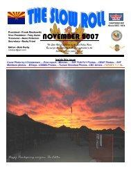 NOVEMBER 2007 - the Sun Valley Fliers