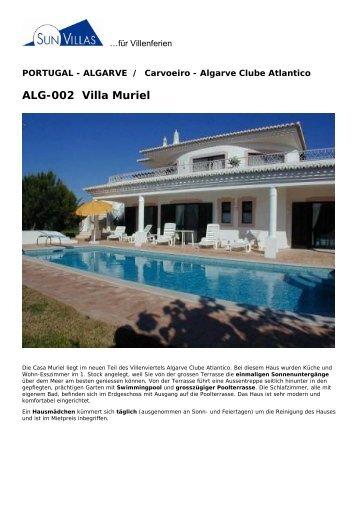 ALG-002 Villa Muriel - Sunvillas.ch
