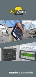Laderegler Module Maritime Solarsysteme - Sunware