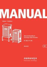 Manual PT-Serie - Sunways AG