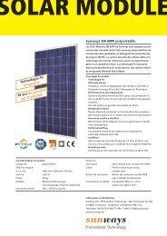 Technologie P3 innovante 10 ans de garantie sur le ... - Sunways AG