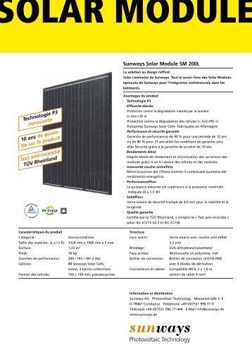 SM 200L 187,5-200W - Krannich Solar