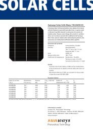 Sunways Solar Cells Mono 156 (AH50-H) - Sunways AG