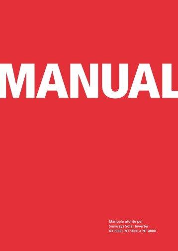 Manuale utente per Sunways Solar Inverter NT 6000 ... - Sunways AG