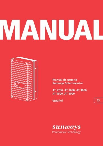 Manual serie AT - Sunways AG