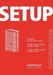 Setup internacional serie AT (11 idiomas) - Sunways AG