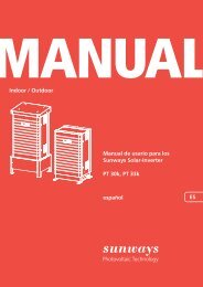 Manual [ES-PT] - Sunways AG