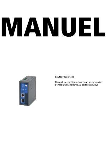 Welotech GPRS/UMTS Router Manual - Sunways AG