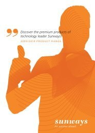 Discover the premium products of technology leader ... - Sunways AG